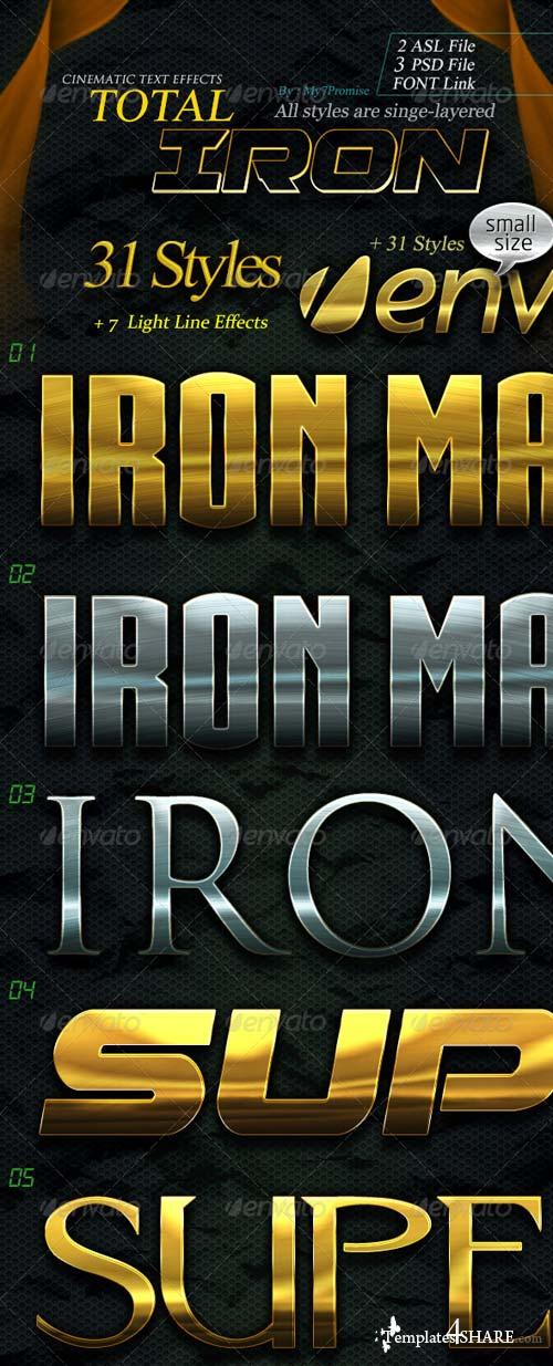 GraphicRiver 31 Total Iron Text Effects