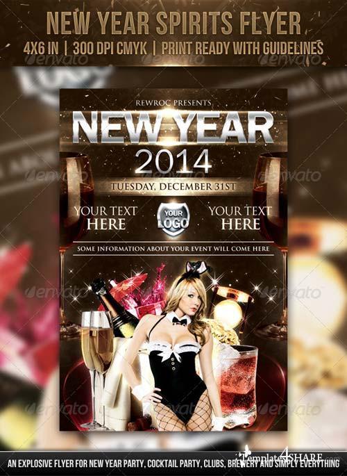 GraphicRiver New Year Spirits Flyer