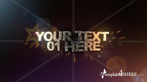 3D TEXT SHATTER - After Effects Project (Revostock)