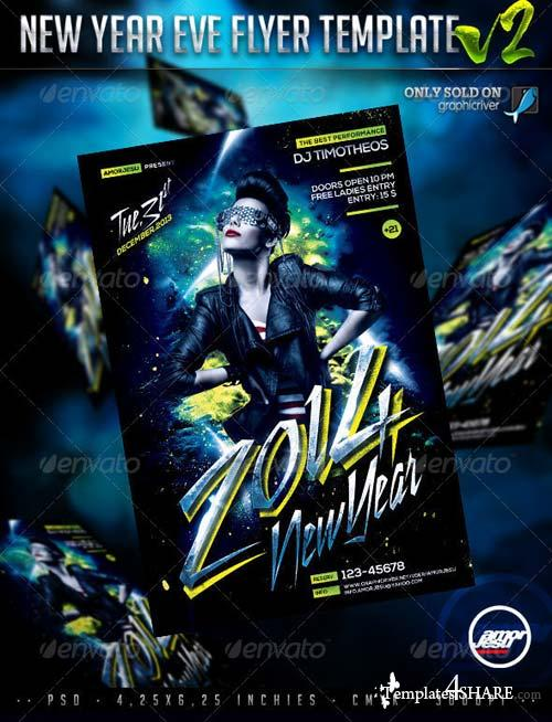GraphicRiver New Year Eve Flyer Template V2