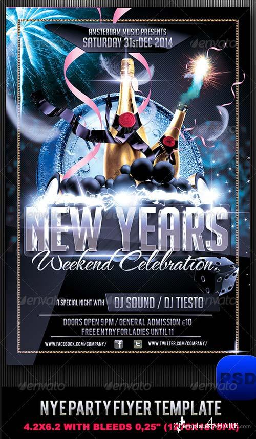 GraphicRiver NYE Party Flyer Template