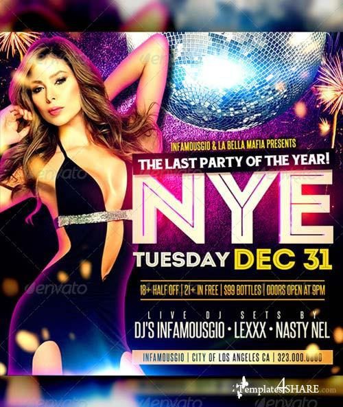 GraphicRiver New Years Social Media Flyer
