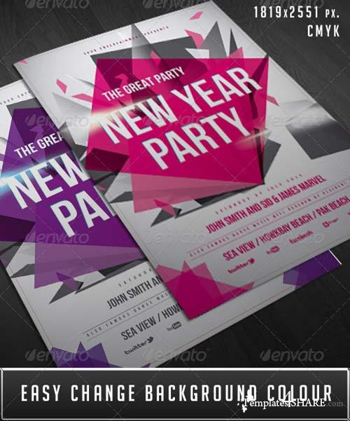 GraphicRiver New Year Party Flyer 6412966