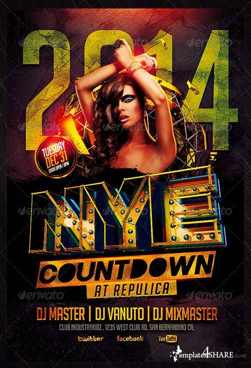 GraphicRiver New Year Flyer Template 6036560