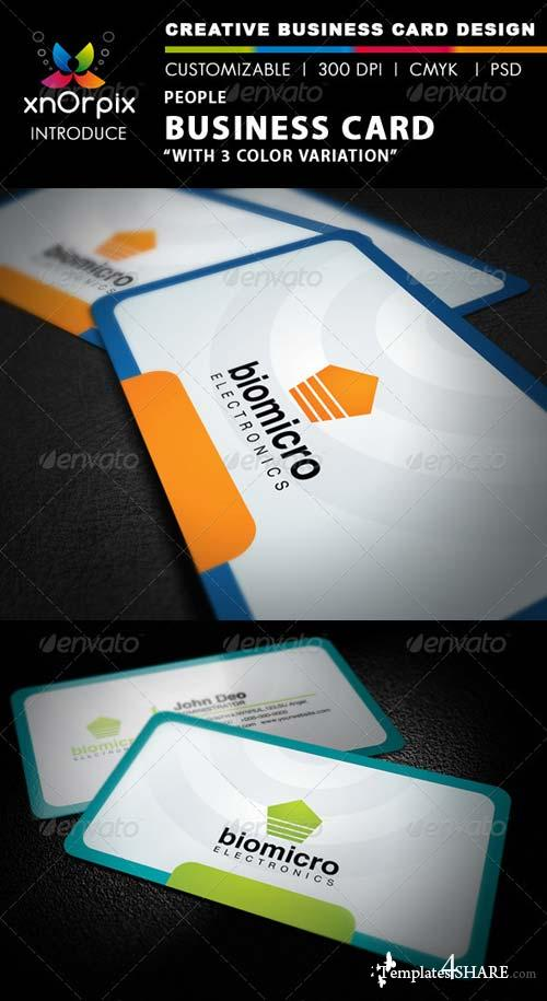 GraphicRiver People Business Card