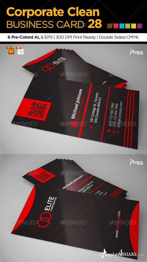 GraphicRiver Corporate Clean Business Card 28