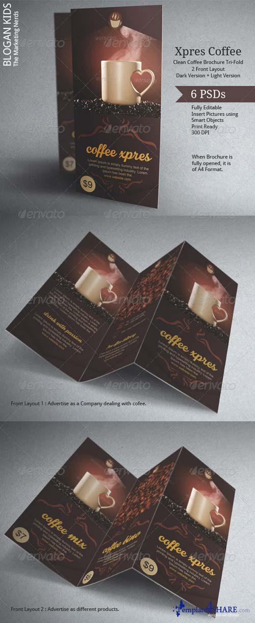 GraphicRiver Coffee Brochure Template Tri-Fold