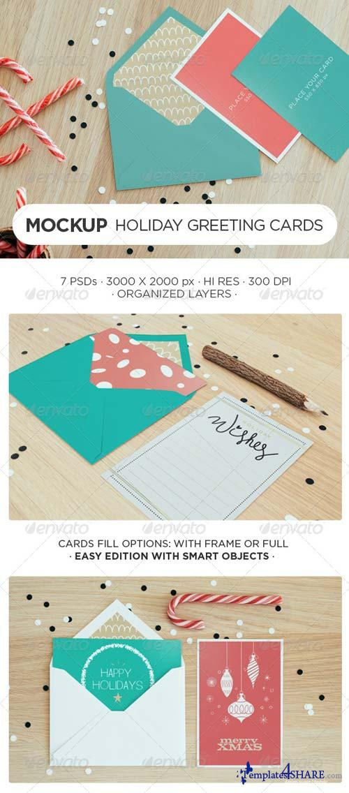 GraphicRiver Holiday Greeting Card Mock-Up
