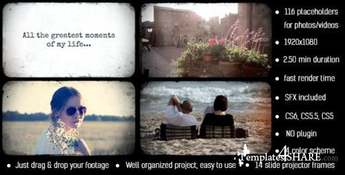 Photo Album Slide Projector - After Effects Project (Videohive)