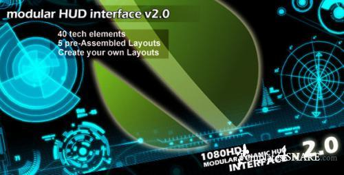 Modular HUD Interface v 2.0 - After Effects Project (Videohive)