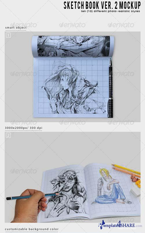 GraphicRiver Sketch Book Ver. 2 Mockup