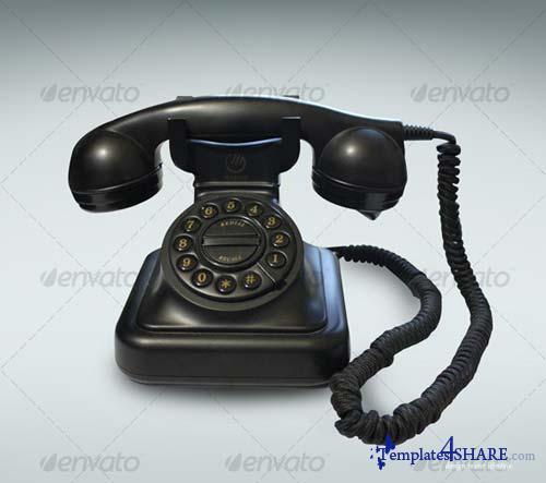 GraphicRiver Black Vintage Phone