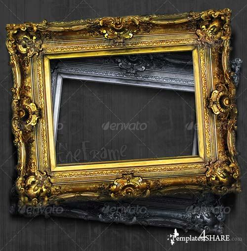 GraphicRiver Antique Picture Frame Hi-Res