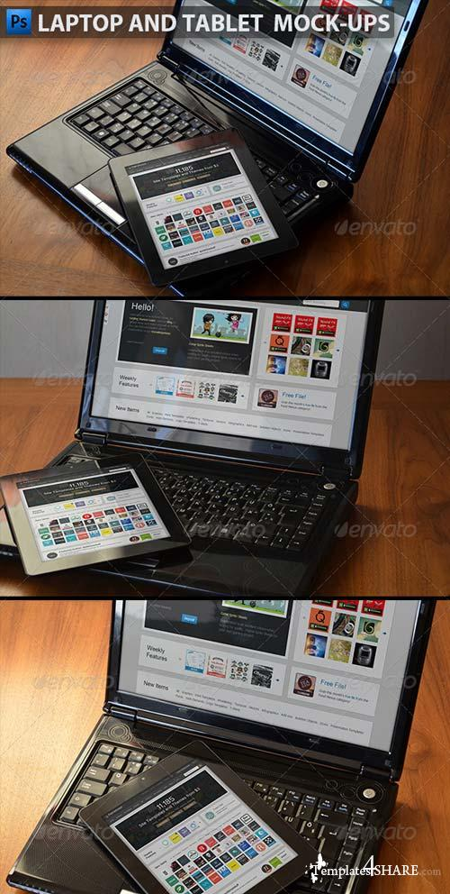 GraphicRiver Laptop and Tablet Display Mock-Ups