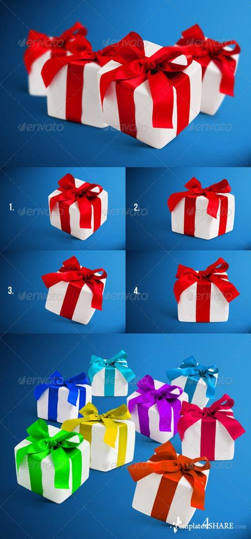 GraphicRiver 4 Gift Boxes with Shadows Photorealistic