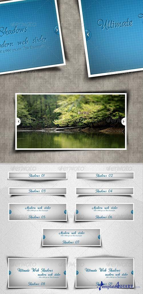 GraphicRiver 43 Ultimate Web Shadows
