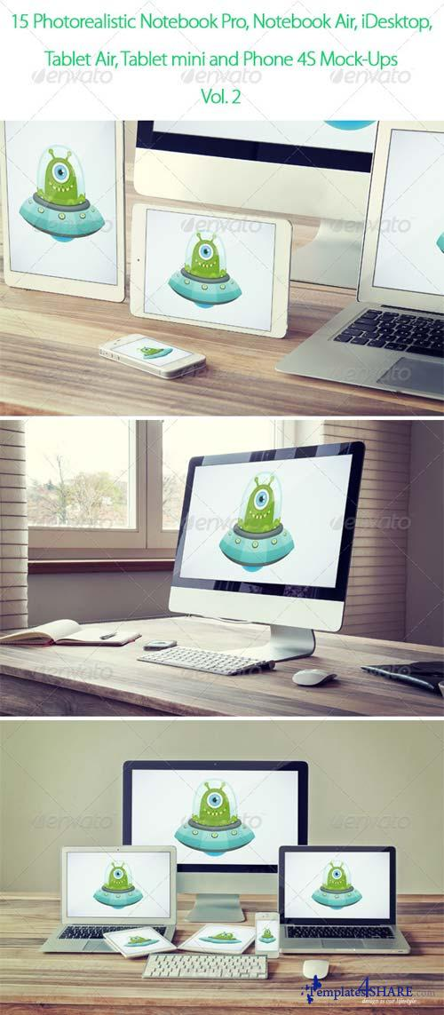 GraphicRiver 15 Photorealistic Device Mock-Ups Vol.2