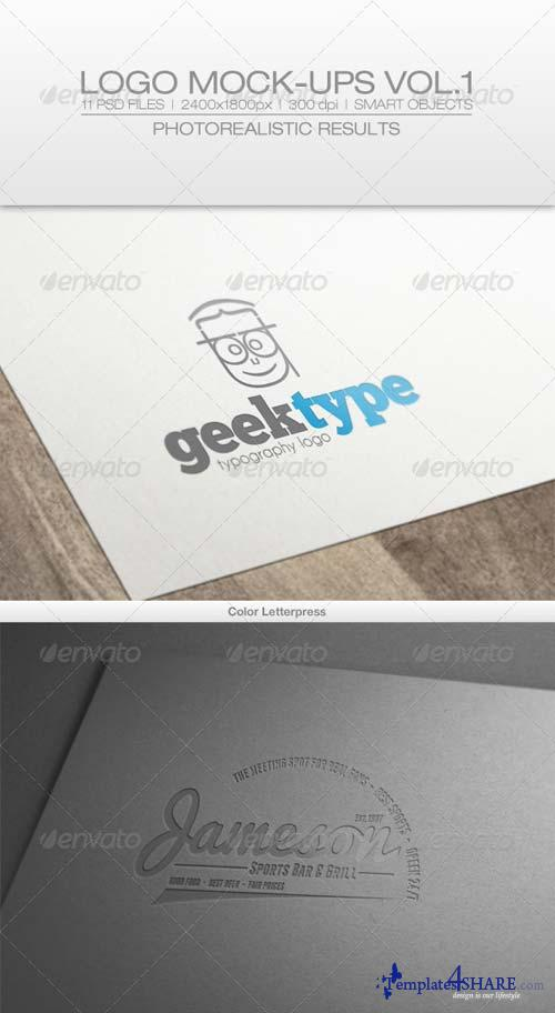 GraphicRiver Logo Mock-ups Vol.1