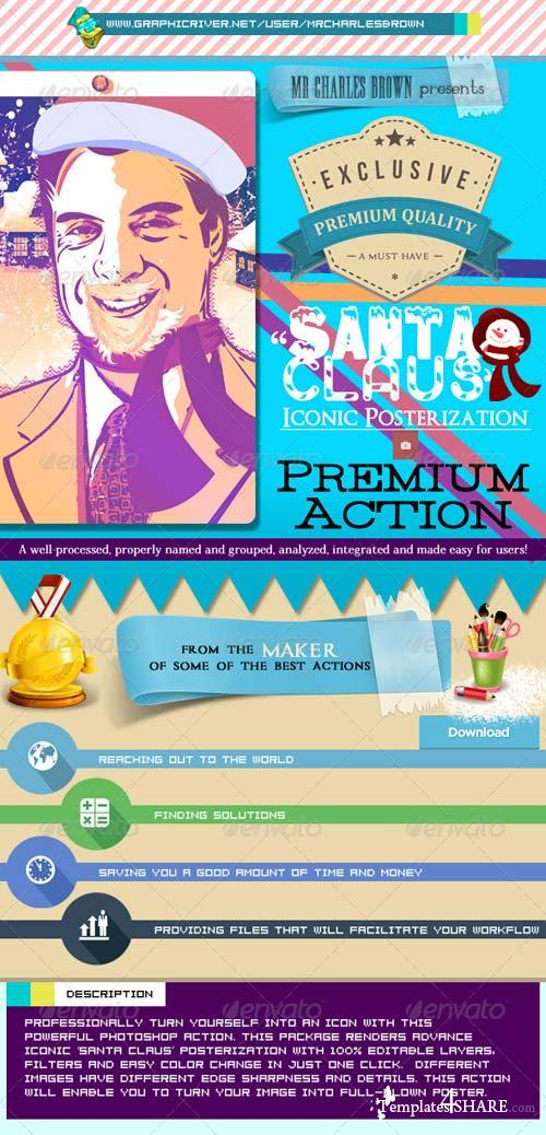 GraphicRiver Santa Claus Iconic Posterization Kit