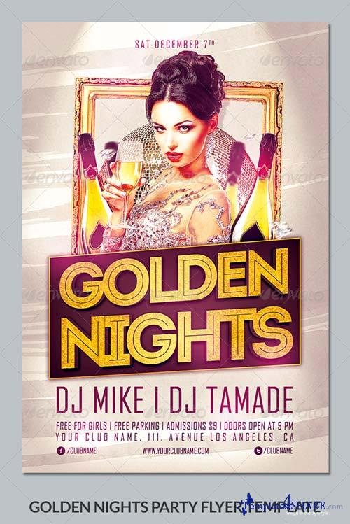 GraphicRiver Golden Nights Party Flyer Template
