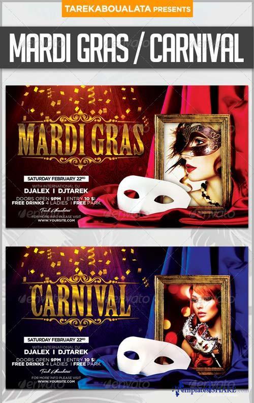 GraphicRiver Mardi Gras / Carnival Flyer 6482748