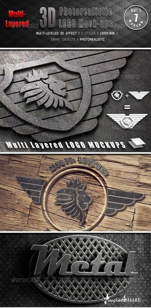 GraphicRiver Photorealistic Multi-Layered 3D Logo Mock-Up
