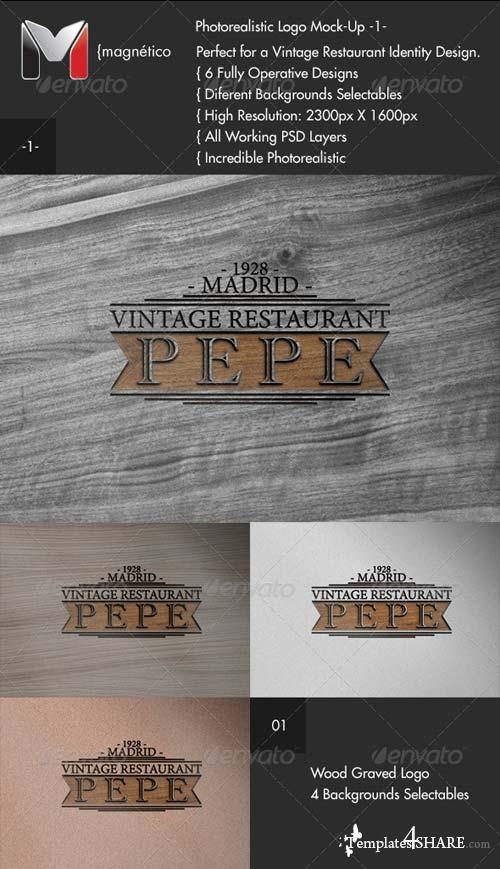 GraphicRiver Vintage Logo Mock-Up