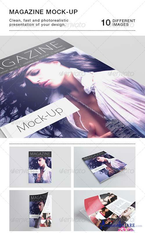 GraphicRiver Photorealistic A5/A4 Magazine Mock-up