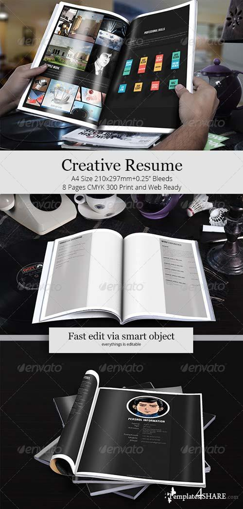 GraphicRiver Creative Resume Template 6430195