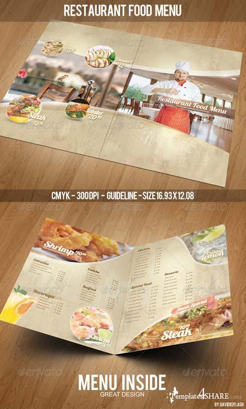 GraphicRiver Restaurant Food Menu Template