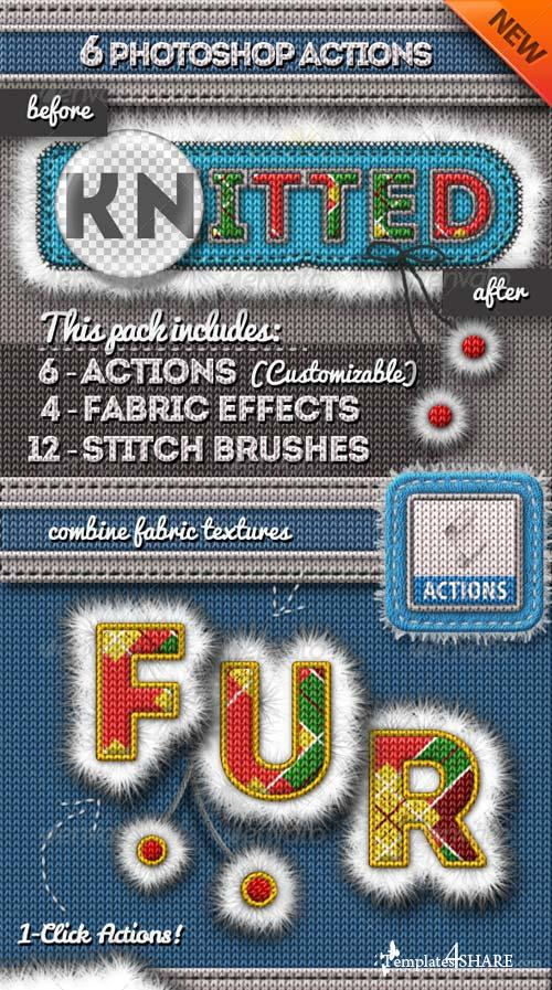 GraphicRiver Fur and Knitted Fabric Photoshop Actions
