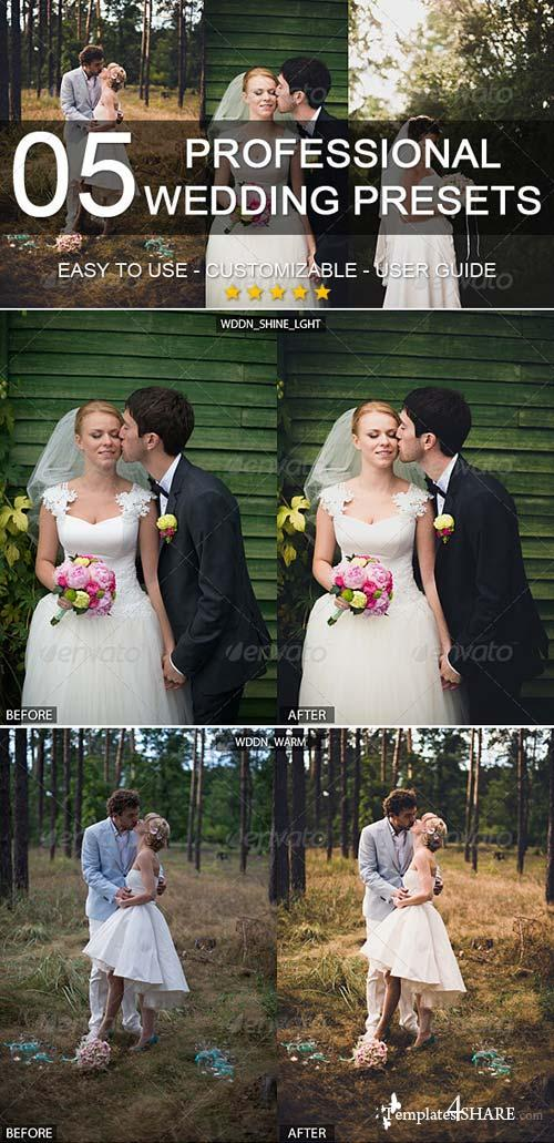 GraphicRiver 5 professional wedding presets