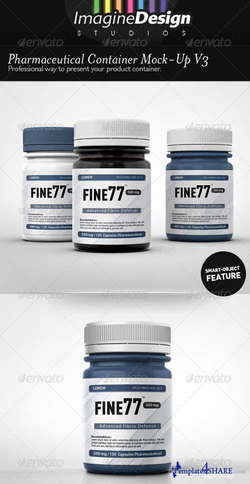 GraphicRiver Pharmaceutical Container Mock-Up V3