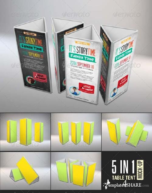 GraphicRiver Table Tent Card Holder Mock-Ups