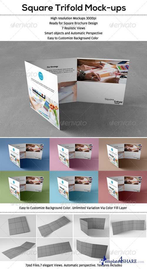 GraphicRiver Square Trifold Mockup