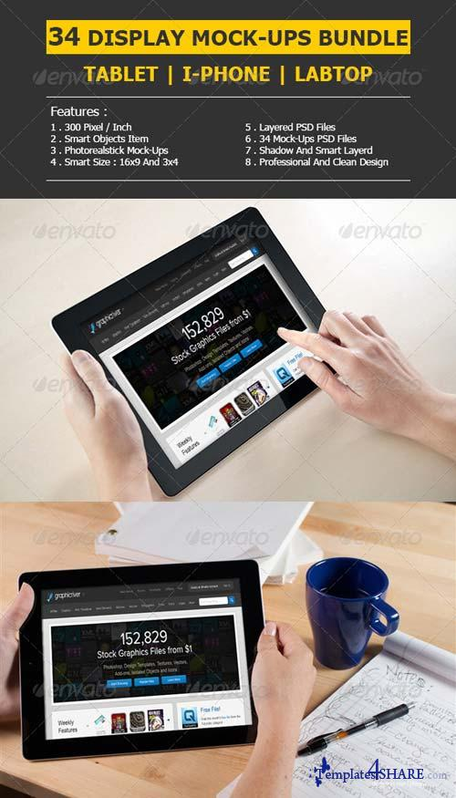 GraphicRiver Bundle - Responsive Displays Mock-Ups