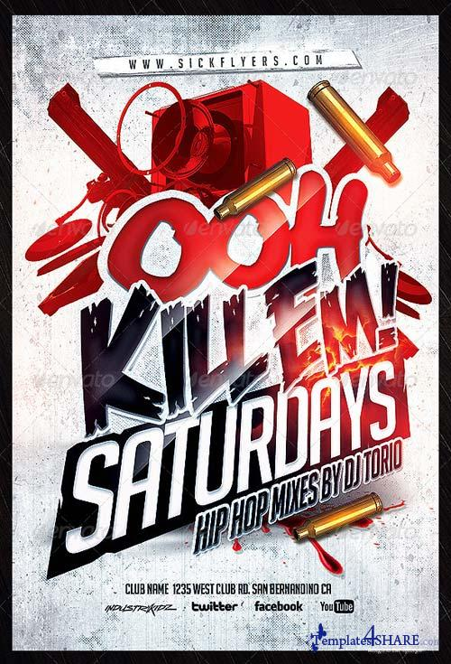 GraphicRiver Ooh Kill Em Flyer Template