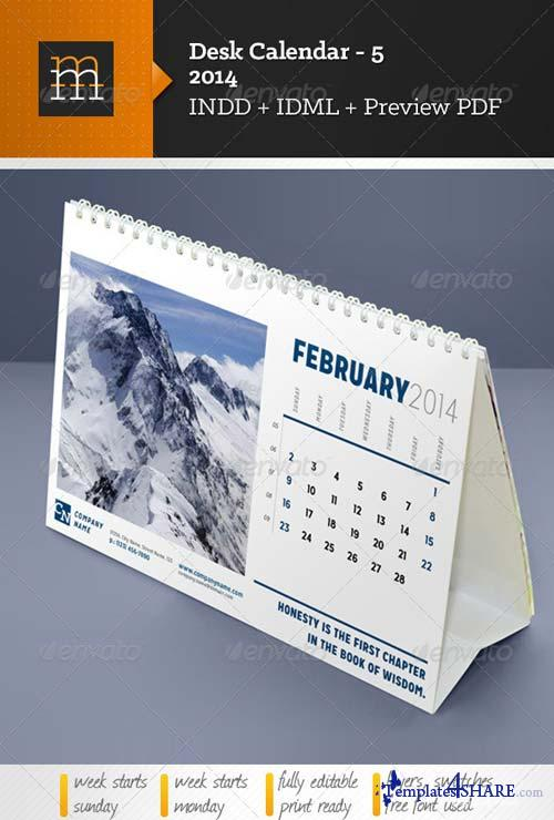 GraphicRiver Desk Calendar-5 2014