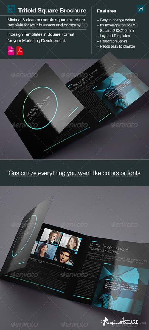 GraphicRiver Square Trifold Brochure DoubleInk