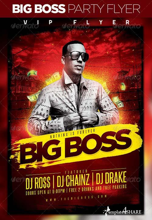 GraphicRiver Big Boss Party Flyer