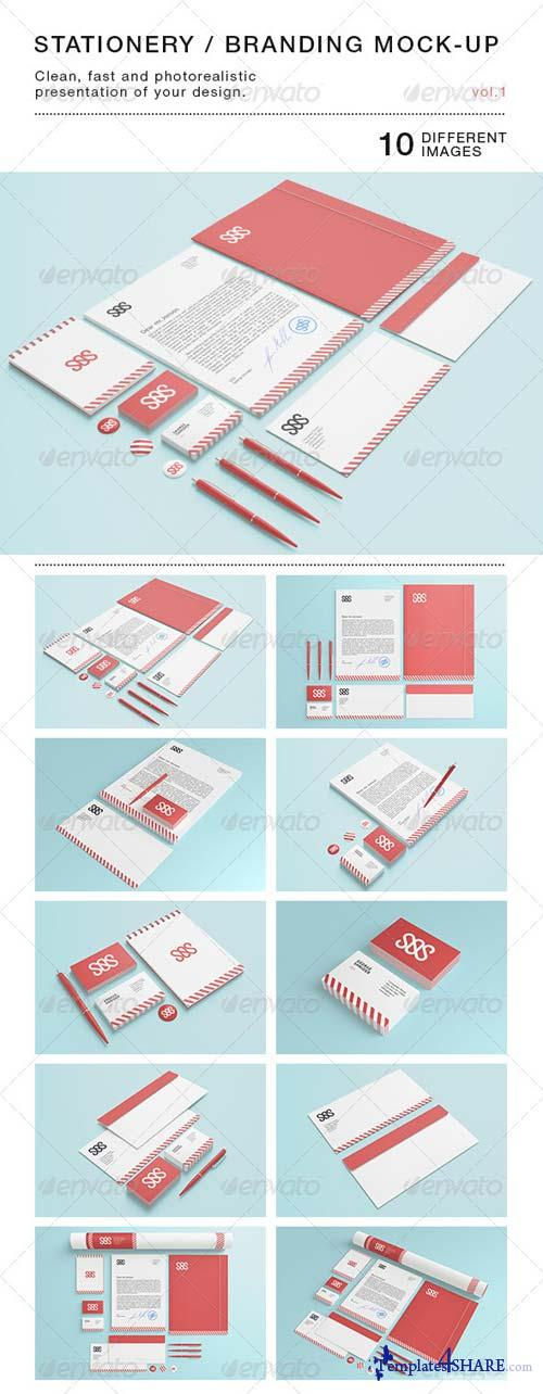 GraphicRiver Stationery / Branding Mock-Up vol.1
