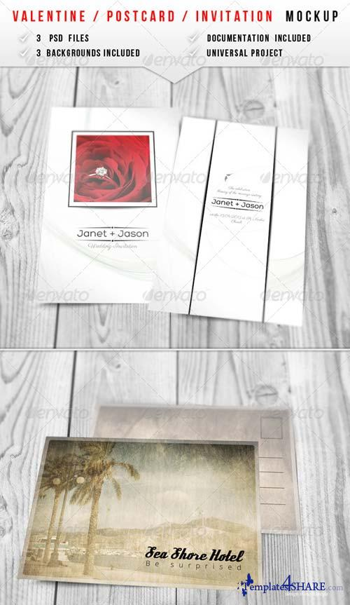 GraphicRiver Valentine / Invitation Mockup 2