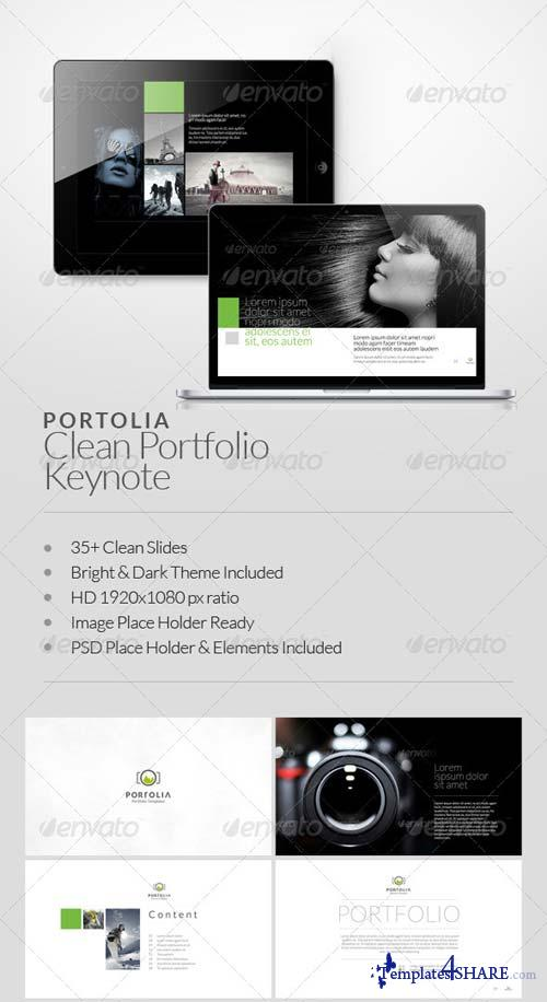 GraphicRiver Portolia Multipurpose Clean Portfolio Keynote