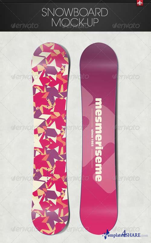 GraphicRiver Snowboard Mock-up