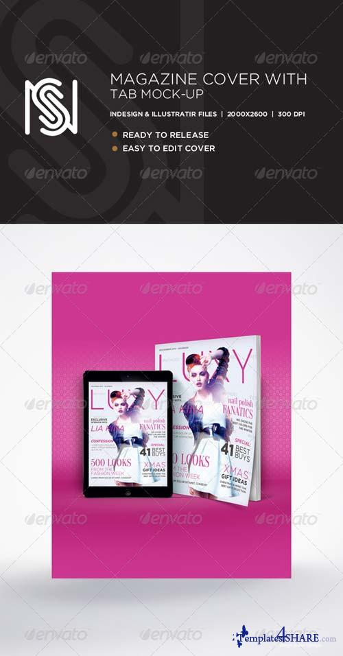 GraphicRiver Magazine Cover & Tablet Mockup