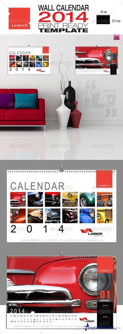 GraphicRiver Corporate Wall Calendar 2014 - Landscape