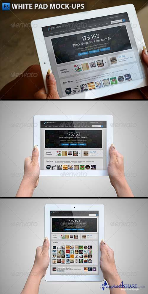 GraphicRiver White Pad Mock-ups