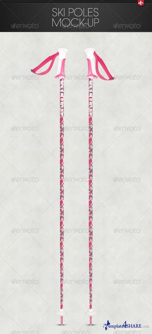 GraphicRiver Ski Poles Mock-up