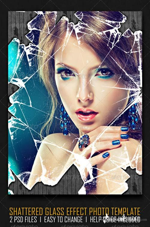 GraphicRiver Shattered Glass Effect Photo Template