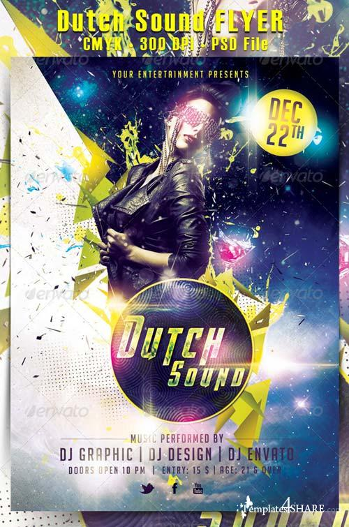 GraphicRiver Dutch Sound Flyer